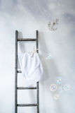 Ladder With Towel Royalty Free Stock Image