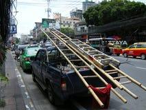 Ladder truck stock image