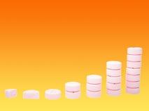 Ladder van farmaceutische drugs Royalty-vrije Stock Afbeelding