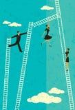 Ladder van succes royalty-vrije illustratie