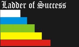 Ladder van succes Stock Fotografie