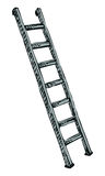 Ladder, vector illustration Royalty Free Stock Images