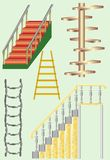Ladder version. The ladder version, tree, metal, rope Stock Image