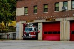 Ladder 4, Voorzienigheidsbrandweerkorps stock foto's