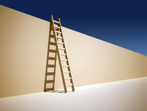 Ladder on wall Stock Photos