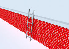 Ladder on wall Stock Images