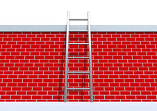 Ladder on wall Royalty Free Stock Images