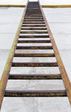 Ladder at a wall Royalty Free Stock Photography