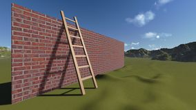 Ladder and Wall Stock Photography