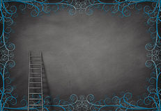 Ladder and wall Stock Image