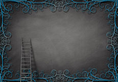 Ladder and wall Royalty Free Stock Images