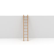 Ladder and Wall isolated on white Stock Image