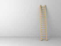 Ladder on wall Stock Photo