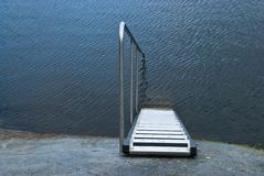 Ladder into the water Royalty Free Stock Photos