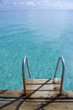 Ladder way into the open sea. A ladder way into the open sea in maldives Stock Photography