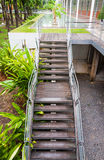 Ladder way stairway leading up to up or down stair in the garden Royalty Free Stock Photography