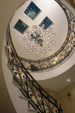 Ladder. White Classic Ladder Chandelier Private Marble Black hole interior is the ceiling royalty free stock images