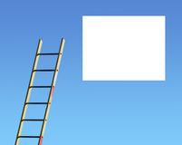 Ladder and white space Royalty Free Stock Photography