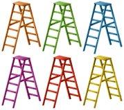 Ladder in zes kleuren vector illustratie