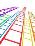Ladders aan Succes Royalty-vrije Stock Foto's