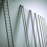 Ladders along the wall Stock Image