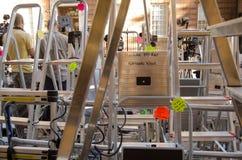 Ladders bij St Mary het Ziekenhuis, Paddington Stock Fotografie