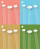 Ladders with clouds Vector illustration Stock Photo
