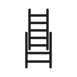 Ladders icon. Ladder, fire, firefighter icon vector image. Can also be used for firefighting. Suitable for use on web apps, mobile apps and print media Stock Photo