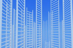Ladders leading to a sky Royalty Free Stock Image