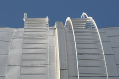 Ladders on observatory dome. Round ladders on an observatory dome Stock Image
