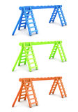 Ladders for playground different color Stock Photos