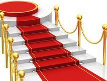 Ladders with red carpet Royalty Free Stock Image