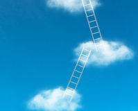 Ladders in sky Royalty Free Stock Image