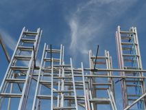 Ladders into sky. Many ladders into the sky stock image
