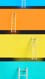 Ladders Of Success Royalty Free Stock Images