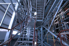 Ladders and support structures at factory Royalty Free Stock Photo