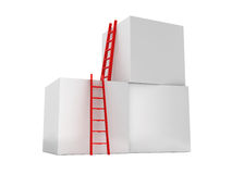 Ladders to Climb Boxes Stock Image