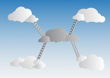 Ladders to cloud on sky Royalty Free Stock Photos
