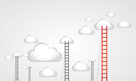 Ladders to clouds. illustration design Royalty Free Stock Photos