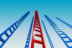 Ladders to the Sky Stock Photography