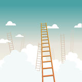 Ladders to the Sky Royalty Free Stock Image
