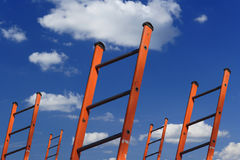 Ladders to success Stock Image