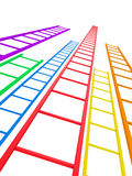 Ladders to Success Royalty Free Stock Photos