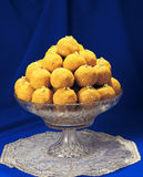 Laddoo Dish. Delicious, fresh and unique mithai, most famous in Pakistani and Indian peoples royalty free stock photography