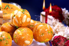 Laddoo with Lot of Nuts. Fresh, delicious and favourite mithai of Indian & Pakistani peoples royalty free stock image