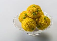 Laddu eller laddooen är boll-formade sötsaker som är populära i den indiska subkontinenten Arkivbilder