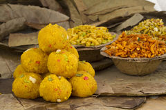 Laddu et Namkeen Photo stock
