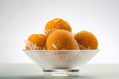 Laddu or laddoo or motichoor laddu stock photography