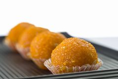 Laddu or laddoo or motichoor laddu royalty free stock photos