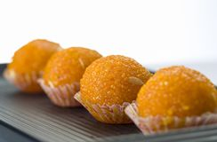 Laddu or laddoo or motichoor laddu stock photos